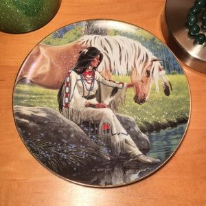 "8"" Hamilton Collection Plate ""Prairie Flower"" 1992"